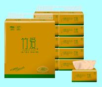 竹爱本色抽取式面巾纸(金色-高贵).130152