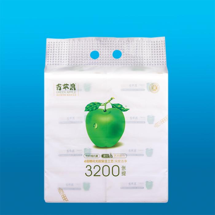 青苹果竹纤维麦纹艺术纸巾1036