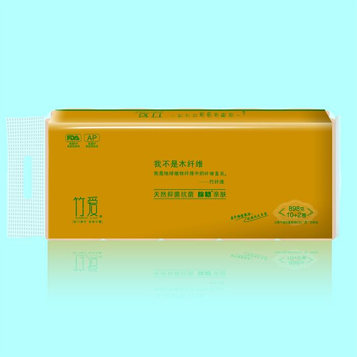 竹爱竹纤维本色竹浆纸精装10+2卷