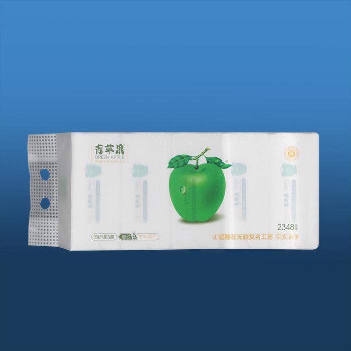 青苹果竹纤维麦纹艺术纸巾1098