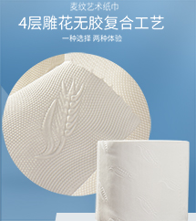青苹果麦纹艺术纸巾10卷.1531